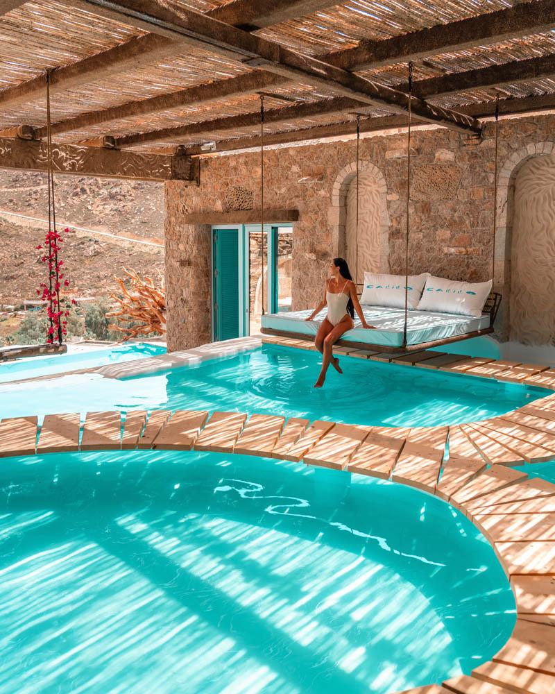 Piscina hotel calilo grecia